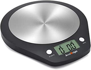 Accuweight Stainless Steel Digital Kitchen Food Scale, Electronic Cooking Scale, 0.1oz to 11lbs Capacity
