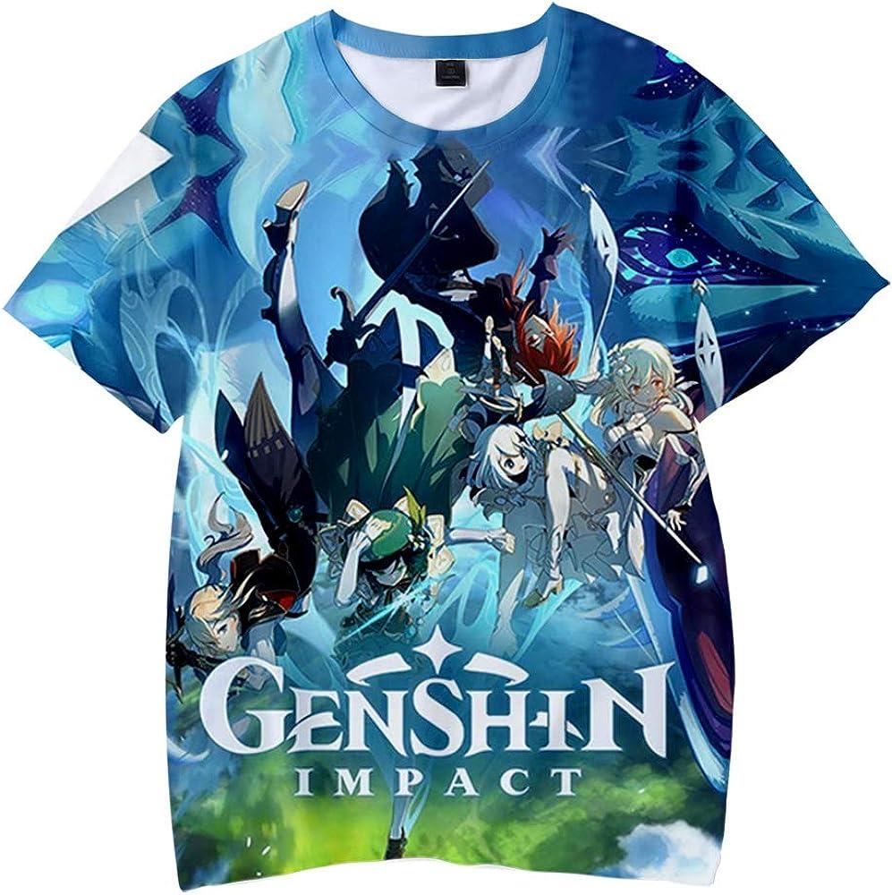 WAWNI Genshin Impact T Shirt Boy Short Sleeve Girl Funny T Shirt Unisex Harajuku Tops