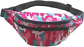 Fanny Pack Waist Pack Bag Waterproof for Men Women Outdoors Running Cycling Climbing Hiking Camo Pink