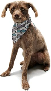"Kess InHouse Michelle Drew""Spectacles Geek Chic"" Pet Bandana and Scarf, 28 by 20 by 20-Inch"