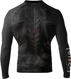 Raven Fightwear Men's Black Dragon Long Sleeve BJJ MMA Rash Guard