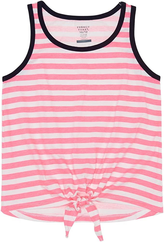 French Toast Girls Tie Front Tank