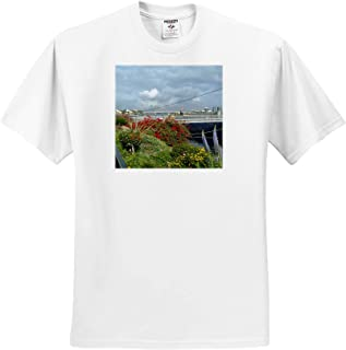 T-Shirts 3dRose Jos Fauxtographee Flower Garden A Beautiful Flower Garden with red and Yellow and Purple and Green
