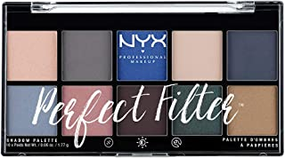 NYX Professional Makeup Paleta de sombras de ojos Perfect Filter Shadow Palette Tono  5   Marine Layer Color Multicolor