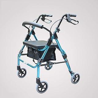 TANGIST 自走介助兼用 ブレーキやハンドバッグを持つ車椅子折りたたみ軽量車椅子4ラウンド歩行器歩行クロスボーダートラベルチェア 折り畳み 軽量