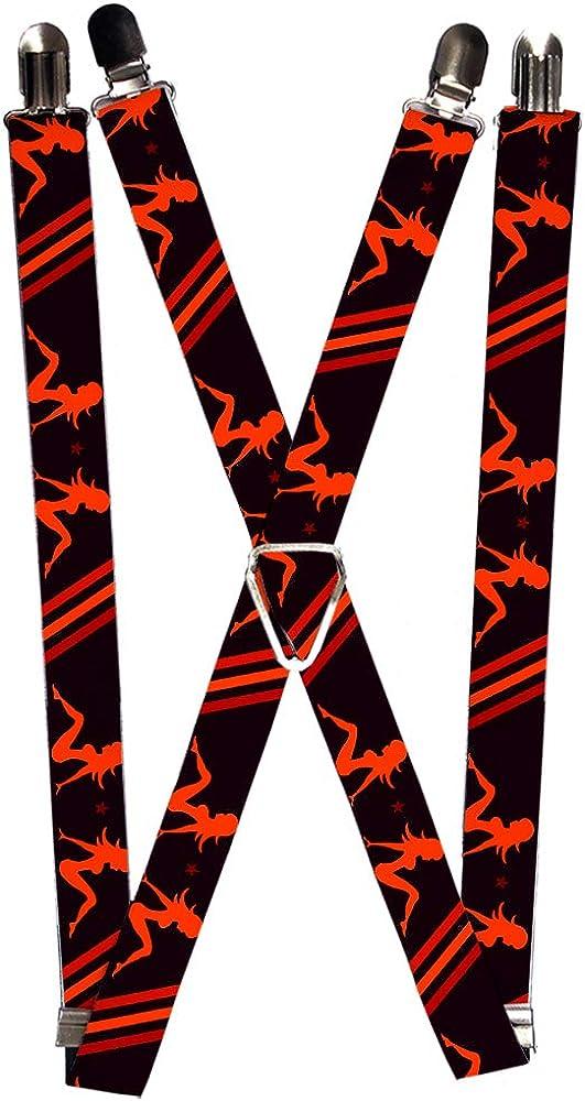 Buckle-Down Men's Suspender-Mud Flap, Multicolor, One Size