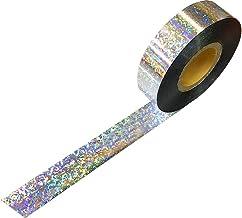 ポンポン用ロールテープ(2.5cm×200M巻)(ホログラムシルバー)チア・バトン・応援・コンサートに便利なメッキテープ(フォログラム)