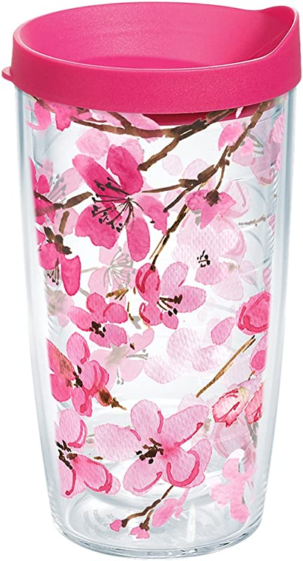 Tervis 1261039 Japanese Cherry Blossom Tumbler 16 Oz Clear