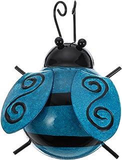 TOYANDONA Metal Wall Art Ladybugs Garden 3D Sculpture Ladybug Inspirational Wall Decor for Garden Home Patio Office Fence ...