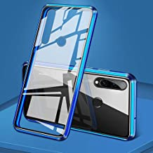 EUDTH Huawei P30 Lite Case, 360° Full Body Magnetic Adsorption Metal Frame Flip 9H Tempered Glass [Front and Back] Full Screen Coverage Protective Case Cover for Huawei P30 Lite/Nova 4E -Blue