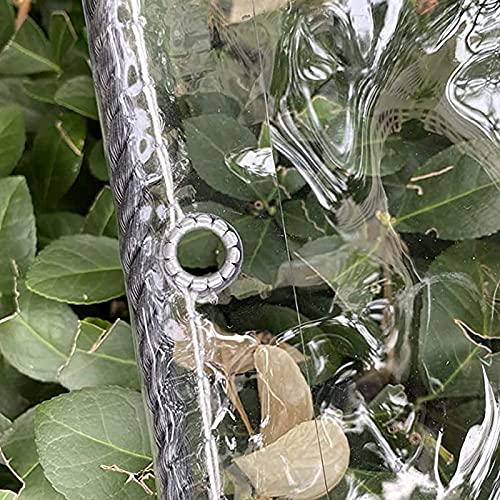 WMEIE Lonas Impermeables Exterior, Lona De PVC Transparente De Alta Resistencia con Ojales para Acampar A Prueba De Viento De La Hoja De Tierra Al Aire Libre,Clear,1.8x2m