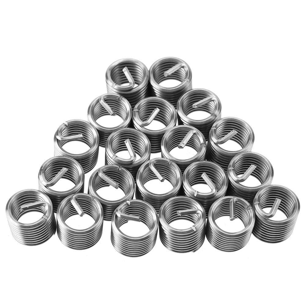 M40.72D M4 Helicoil Thread Repair Stainless Steel SS304 Thread Insert Coiled Wire Insert Helical Insert Assortment Helical Thread Insert Wal front 100Pcs Wire Insert Thread
