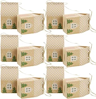 COAFIT 50PCS Box DIY House Shape Tree Decor Box Party Favor Box