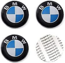 DIYcarhome 4PCS 56.5mm/2.2inch Auto Car Sticker Wheel Center Hub Cap Logo Aluminium fit for BMW