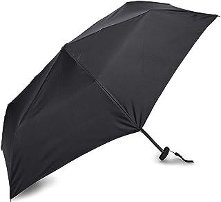 Samsonite - Paraguas compacto plano manual, Negro, Una talla