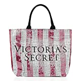 Victoria's Secret Weekender Duffle Travel Bag (Pink Bling Sequin Stripes)