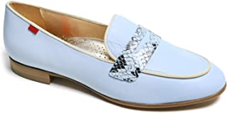 Genuine Leather Made in Brazil Womens Bryant Park 2.0 Loafer, Baby Blue Nappa Soft/Viper, 9.5 US
