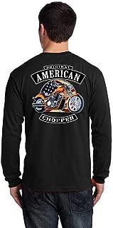 Biker Original American Chopper Classic Motorcycle Mens Long Sleeve T Shirt Back Print
