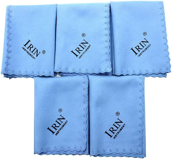 Mowind Max Miami Mall 90% OFF 5pcs Microfiber Polishing Cleaning for Musical Inst Cloth