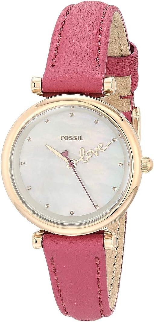 ES4827 Rose Gold Fuchsia Leather