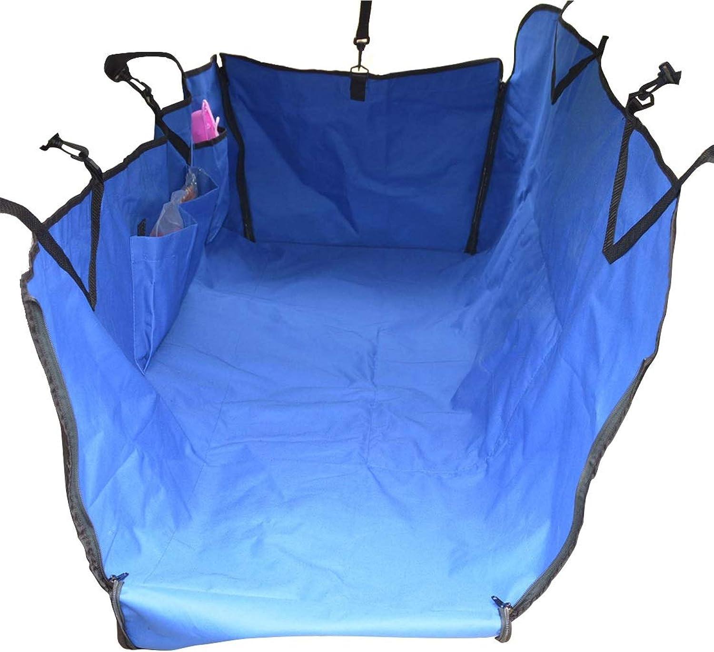 HUAyue Pet Car Mat Car Mat Car Mat AntiPollution Raincoat Car Mat Dog Mat Universal Expedition Nest (color   bluee, Size   125X120X39cm)