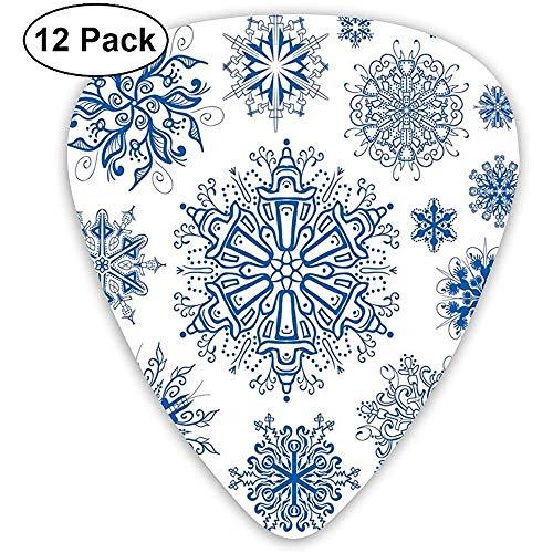 Diseños geométricos de invierno d diseños simétricos con motivos navideños (12 unidades)