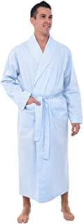 Alexander Del Rossa Mens Cotton Robe, Lightweight Woven Bathrobe