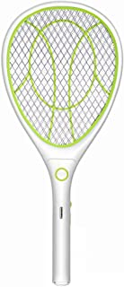 Night Cat Bug Zapper Racket Electric Fly Swatter Racquet Electronic Mosquito Killer with USB Charging LED Lighting Double ...