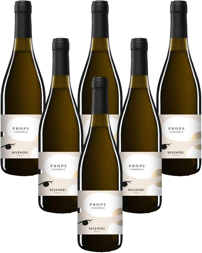 VELENOSI vinos - Abruzzo marca PROPE Trebbiano D'Abruzzo D.O.C. Vino blanco italiano (6 botellas 75 cl.)