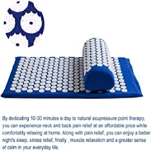 Relieve Stress Pain Massage Acupuncture Yoga Mat Acupressure Pillow Cushion Body Back Muscle Pain Relief Acupuncture Mat,Blue,67 * 42CM