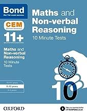 Bond 11+: Maths & Non-verbal Reasoning: CEM 10 Minute Tests: 9-10 years