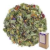 Núm. 1204: Té verde 'After Work (relajarse después del trabajo)' - hojas sueltas - 250 g - GAIWAN® GERMANY - té verde de China, Melissa, phillyrea, girasol, rosa y malva, kombucha, cassia y lavanda