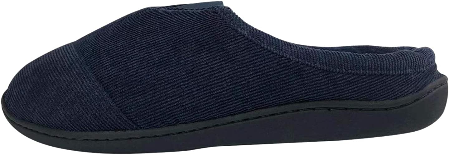 Youngfine Corduroy Mens Slipper with Memory Foam