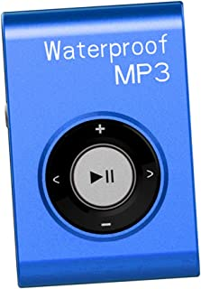 Prettyia Mp3 Music Player FM Radio Stereo Audio with Clip Lossless IPX8 Waterproof - Blue