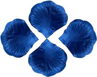 MiMiLive RosePetal 2000 PCS Wedding PetalsArtificial Flower PetalsOdorless Silk FabricRosePetal for WeddingParty Home Decoration (Blue)