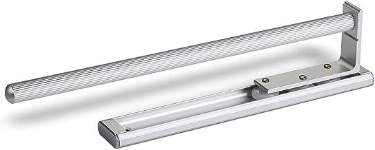 SOTECH enkele handdoekhouder, aluminium, uitschuifbaar van 325 tot 467 mm, voor wandmontage