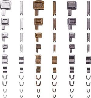 PH PandaHall 4 Size 3 Color Metal Zipper Head Sliders Retainer Insertion Pin(12 Sets), 12 Pairs Zipper Top Stop Plug, 12pcs Repair Down Zipper Bottom Stopper for Zipper Repair Kit (Size 3/5/8/10)