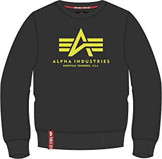 Alpha Industries Basic Neon Print Sweatshirt Black/Yellow XS