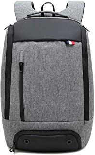 Sivias Laptop Backpack,Multi-Function Business Computer Rucksack for Women and Men,Waterproof Durable College School Bag for Boy and Girl(Size:28 * 16 * 45cm) (Color : Gray)