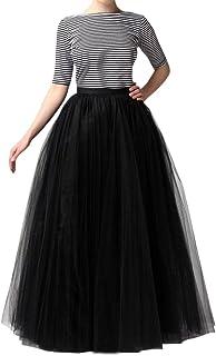 WDPL تنورة طويلة من التول طويلة بتصميم مخطط الزفاف على شكل حرف A للنساء تنانير الحفلات المسائية