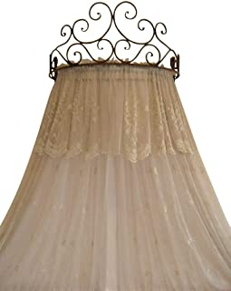 OctoRose Metal Wall Teester Bed Canopy Drapery Crown Hardware (Cherry(24.75