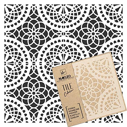 TOBERA Wiederverwendbare Kunststoff-Schablone Fliese / / Marokkanische Geometrische / / Boden Wand (20x20cm)