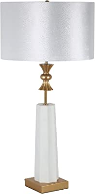 "Sagebrook Home 50498 Polyresin 40"" Crown Table Lamp, White-Kd"