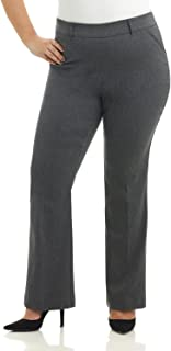 Curvy Woman Ease in to Comfort Fit Barely Bootcut Plus Size Pant