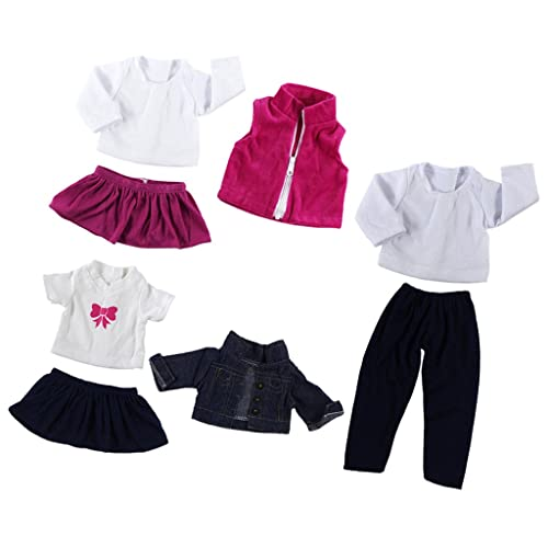 7aeadb96127 MagiDeal 3 suit Fancy Doll Clothes Jeans Top Skirt Dress for 18   American  Girl