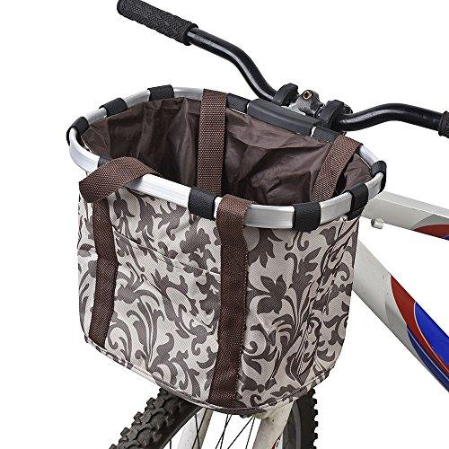 Lixada Bike Basket, Small Pet Cat Dog Carrier Bicycle Handlebar Front Basket - Folding...