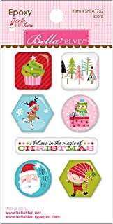 Santa Stops Here Epoxy Stickers - Icons (Pack of 3)