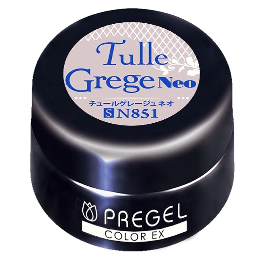 百年呼びかける子供っぽいPRE GEL カラーEX チュールグレージュ neo 851 3g UV/LED対応