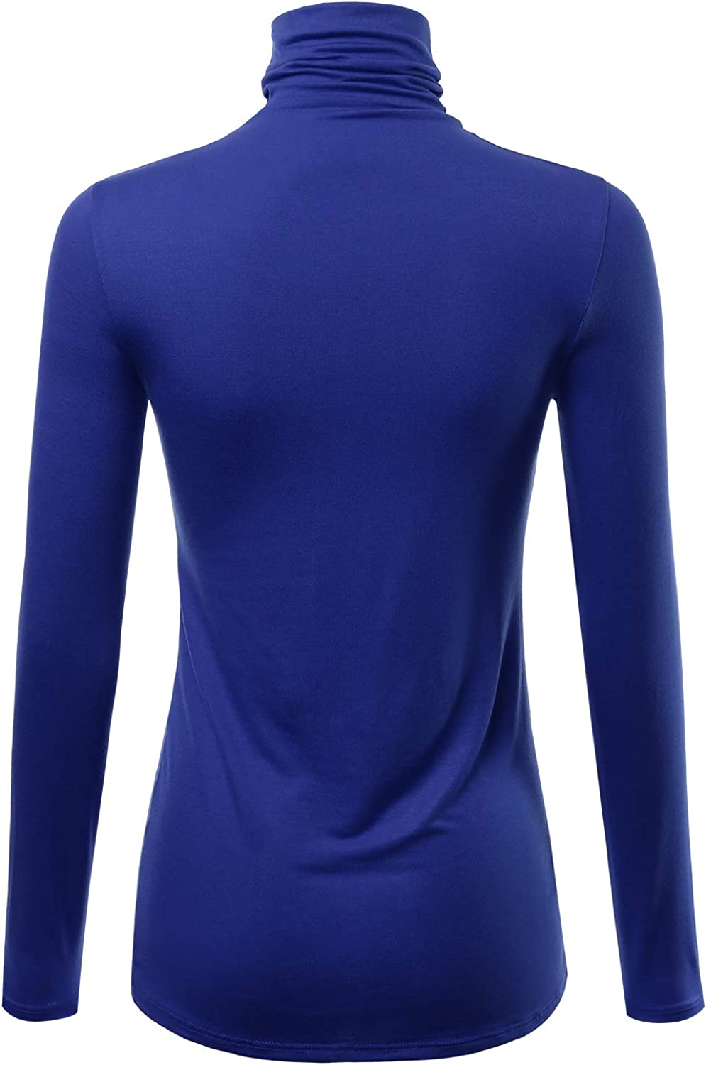 FASHIONOLIC Womens Premium Long Sleeve Turtleneck Lightweight Pullover Top Sweater S-3X, Made in USA