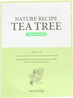 Secret Key Nature Recipe Mask Pack Tea Tree 10 Masks 0 7 oz 20 g Each